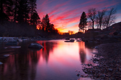 Truckee River Sunset Reflection