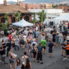 A crowd gathers at the Midtown Reno Art Walk