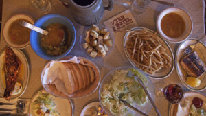 A typical family-style meal at a Northern Nevada Basque restaurant. Travel Nevada / Sydney Martinez